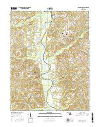 Lower Marlboro Maryland Current topographic map, 1:24000 scale, 7.5 X 7.5 Minute, Year 2016