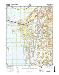 Queenstown Maryland Current topographic map, 1:24000 scale, 7.5 X 7.5 Minute, Year 2016