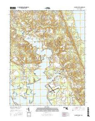 Saint Marys City Maryland Current topographic map, 1:24000 scale, 7.5 X 7.5 Minute, Year 2016