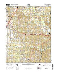 Upper Marlboro Maryland Current topographic map, 1:24000 scale, 7.5 X 7.5 Minute, Year 2016