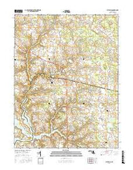 Wye Mills Maryland Current topographic map, 1:24000 scale, 7.5 X 7.5 Minute, Year 2016