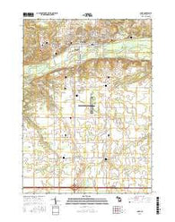 Ionia Michigan Current topographic map, 1:24000 scale, 7.5 X 7.5 Minute, Year 2016