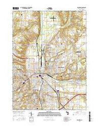 Kalamazoo Michigan Current topographic map, 1:24000 scale, 7.5 X 7.5 Minute, Year 2016