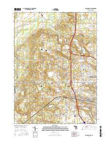 Kalamazoo SW Michigan Current topographic map, 1:24000 scale, 7.5 X 7.5 Minute, Year 2016
