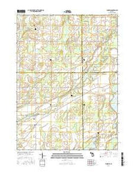 Leonidas Michigan Current topographic map, 1:24000 scale, 7.5 X 7.5 Minute, Year 2016