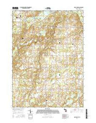 Maple Grove Michigan Current topographic map, 1:24000 scale, 7.5 X 7.5 Minute, Year 2016
