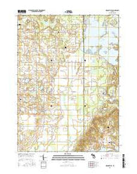 Orangeville Michigan Current topographic map, 1:24000 scale, 7.5 X 7.5 Minute, Year 2016