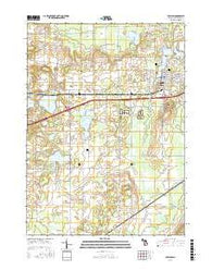 Paw Paw Michigan Current topographic map, 1:24000 scale, 7.5 X 7.5 Minute, Year 2016
