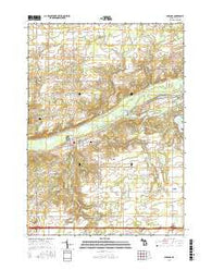 Saranac Michigan Current topographic map, 1:24000 scale, 7.5 X 7.5 Minute, Year 2016