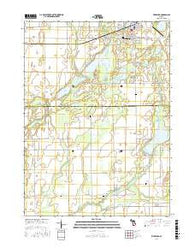 Vicksburg Michigan Current topographic map, 1:24000 scale, 7.5 X 7.5 Minute, Year 2016