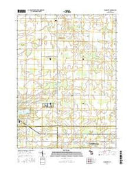 Woodbury Michigan Current topographic map, 1:24000 scale, 7.5 X 7.5 Minute, Year 2016