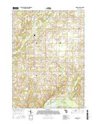 Woodland Michigan Current topographic map, 1:24000 scale, 7.5 X 7.5 Minute, Year 2016