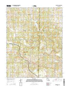 Brandsville Missouri Current topographic map, 1:24000 scale, 7.5 X 7.5 Minute, Year 2015