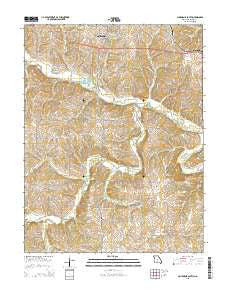 California South Missouri Current topographic map, 1:24000 scale, 7.5 X 7.5 Minute, Year 2015