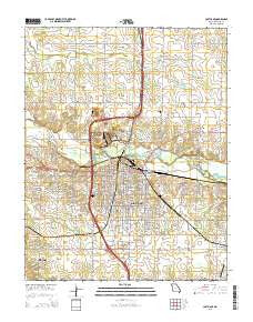 Carthage Missouri Current topographic map, 1:24000 scale, 7.5 X 7.5 Minute, Year 2015