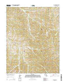 Elk Creek Missouri Current topographic map, 1:24000 scale, 7.5 X 7.5 Minute, Year 2015