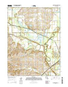 Fountain Grove Missouri Current topographic map, 1:24000 scale, 7.5 X 7.5 Minute, Year 2015