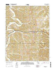 Freeburg Missouri Current topographic map, 1:24000 scale, 7.5 X 7.5 Minute, Year 2015