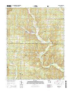 Grandin Missouri Current topographic map, 1:24000 scale, 7.5 X 7.5 Minute, Year 2015