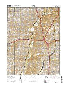 Grandview Missouri Current topographic map, 1:24000 scale, 7.5 X 7.5 Minute, Year 2015