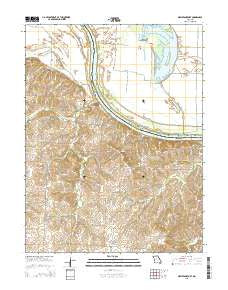 New Frankfort Missouri Current topographic map, 1:24000 scale, 7.5 X 7.5 Minute, Year 2015