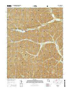Oates Missouri Current topographic map, 1:24000 scale, 7.5 X 7.5 Minute, Year 2015