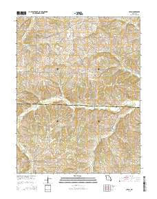 Olean Missouri Current topographic map, 1:24000 scale, 7.5 X 7.5 Minute, Year 2015