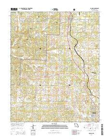 Pomona Missouri Current topographic map, 1:24000 scale, 7.5 X 7.5 Minute, Year 2015