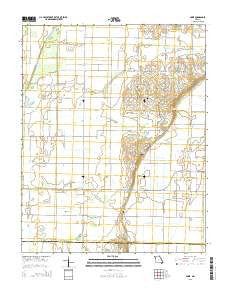 Powe Missouri Current topographic map, 1:24000 scale, 7.5 X 7.5 Minute, Year 2015