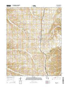 Purdy Missouri Current topographic map, 1:24000 scale, 7.5 X 7.5 Minute, Year 2015