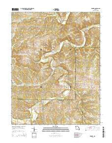 Redbird Missouri Current topographic map, 1:24000 scale, 7.5 X 7.5 Minute, Year 2015