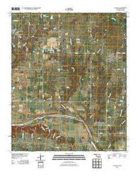 Achille Oklahoma Historical topographic map, 1:24000 scale, 7.5 X 7.5 Minute, Year 2010