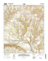 Achille Oklahoma Current topographic map, 1:24000 scale, 7.5 X 7.5 Minute, Year 2016