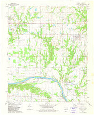 Achille Oklahoma Historical topographic map, 1:24000 scale, 7.5 X 7.5 Minute, Year 1980