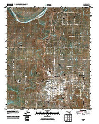 Ada Oklahoma Historical topographic map, 1:24000 scale, 7.5 X 7.5 Minute, Year 2010