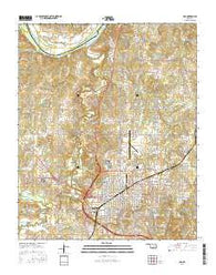 Ada Oklahoma Current topographic map, 1:24000 scale, 7.5 X 7.5 Minute, Year 2016