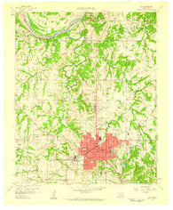 Ada Oklahoma Historical topographic map, 1:24000 scale, 7.5 X 7.5 Minute, Year 1958