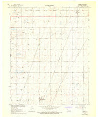 Adams Oklahoma Historical topographic map, 1:24000 scale, 7.5 X 7.5 Minute, Year 1967