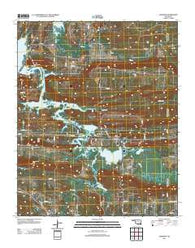 Adamson Oklahoma Historical topographic map, 1:24000 scale, 7.5 X 7.5 Minute, Year 2012