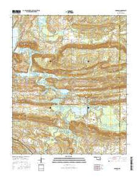 Adamson Oklahoma Current topographic map, 1:24000 scale, 7.5 X 7.5 Minute, Year 2016