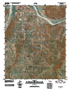Calvin West Oklahoma Historical topographic map, 1:24000 scale, 7.5 X 7.5 Minute, Year 2009