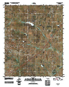 Laverty Oklahoma Historical topographic map, 1:24000 scale, 7.5 X 7.5 Minute, Year 2009