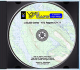 YellowMaps Canada Topo Maps: NTS Regions 67+77