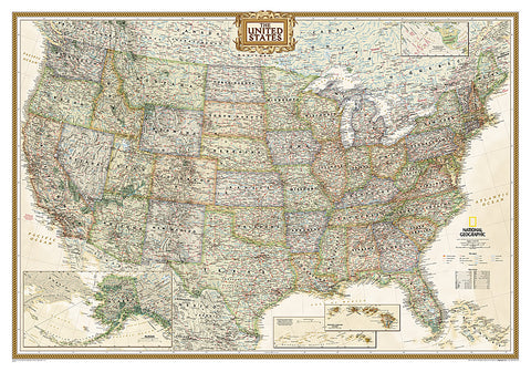 Buy map United States, Executive, Sleeved by National Geographic Maps