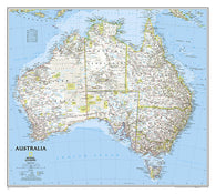 Buy map Australia, Classic, Laminated by National Geographic Maps