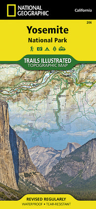 Buy map Yosemite National Park, California, USA, Map 206 by National Geographic Maps
