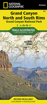 Buy map Grand Canyon, Bright Angel Canyon, North & South Rims, Map 261 by National Geographic Maps