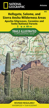Buy map Hellsgate, Salome and Sierra Ancha Wilderness by National Geographic Maps