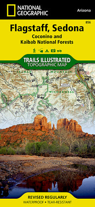 Buy map Flagstaff, Sedona, Coconino and Kaibab National Forests, Map 856 by National Geographic Maps