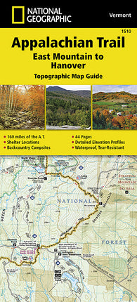 Buy map Appalachian Trail Topographic Map Guide, East Mountain to Hanover by National Geographic Maps